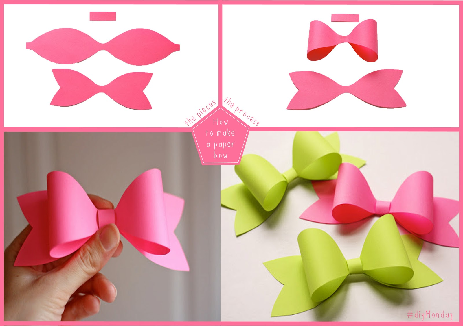 Large Paper Bow Template Make your own paper bows