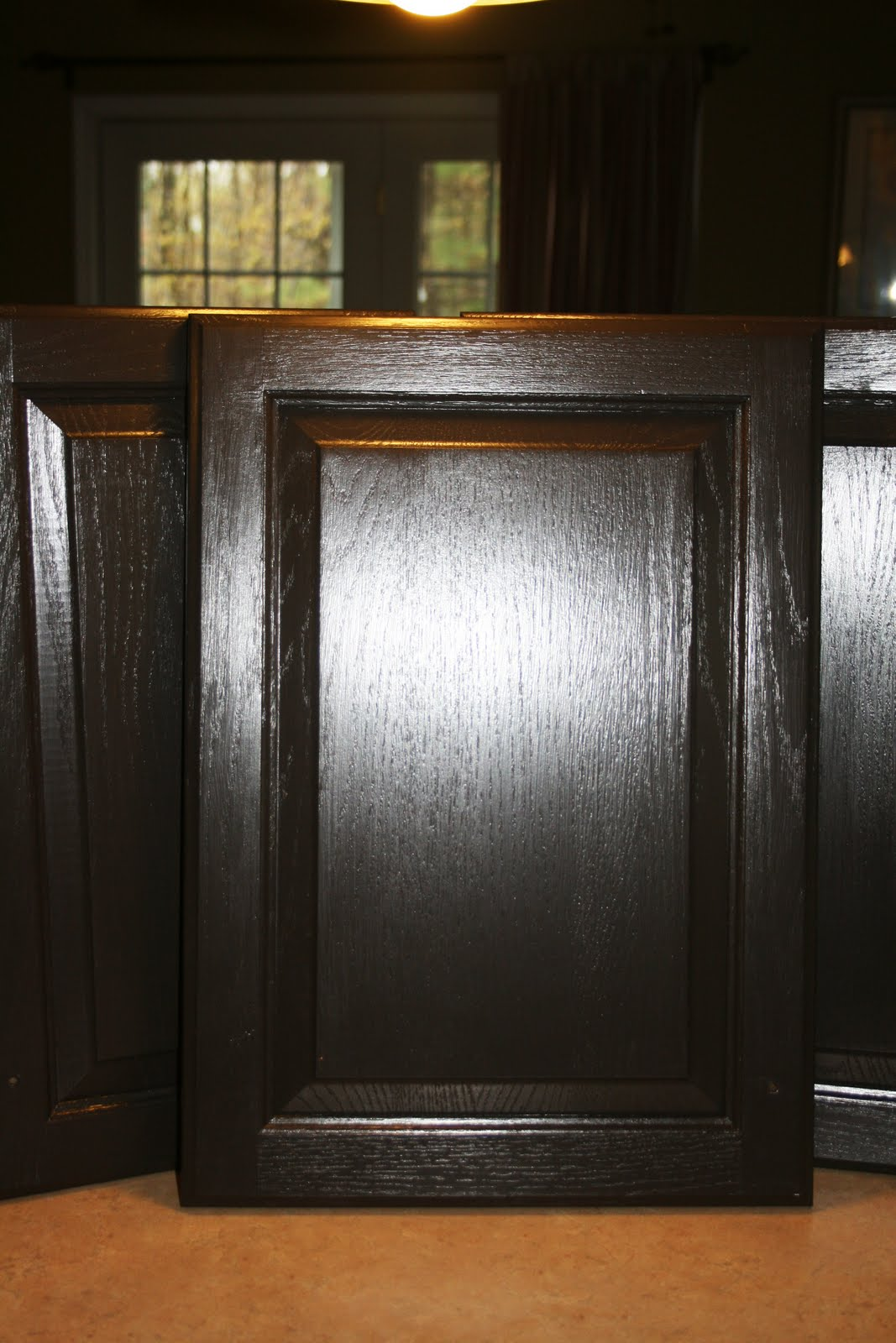 Chocolate Brown Painted Kitchen Cabinet