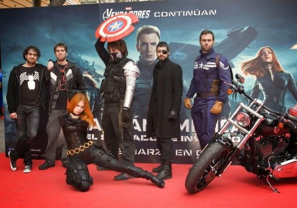 """Fotográfias Evento Fan """"Capitán América: El Soldado de Invierno"""" (22 de marzo Madrid)"""