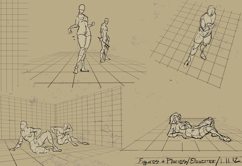 "Spartan Camp #209 - 50 gestures + Optional ""Objects in Perspective Study"""
