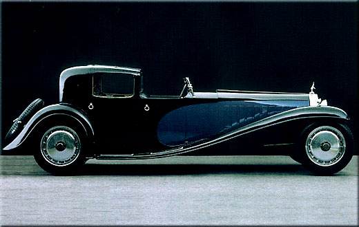 1932 Bugatti Type 41 Royale The Bugatti Type 411932 better known as the Bugatti Royale, the Bugatti Type 41 engine was built around a single huge block, and at (apx. 4.5 ft (1.4 m) long x 3.5 ft (1.1 m) high), is one of the largest automobile engines ever made, producing 205 to 223 kW