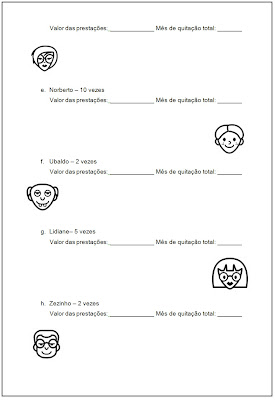 Atividades Escolares - Atividades de divisão e multiplicação