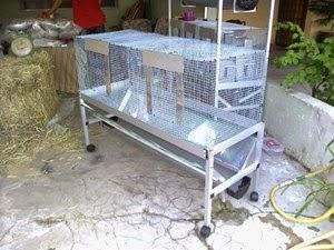 rak aluminium CANGGIH beserta sangkar 2 bilik.