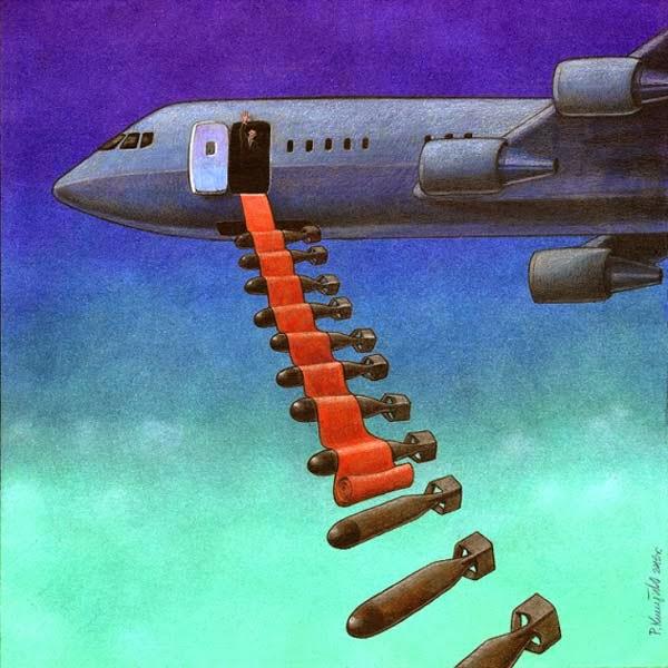 Ilustración que critica las guerras