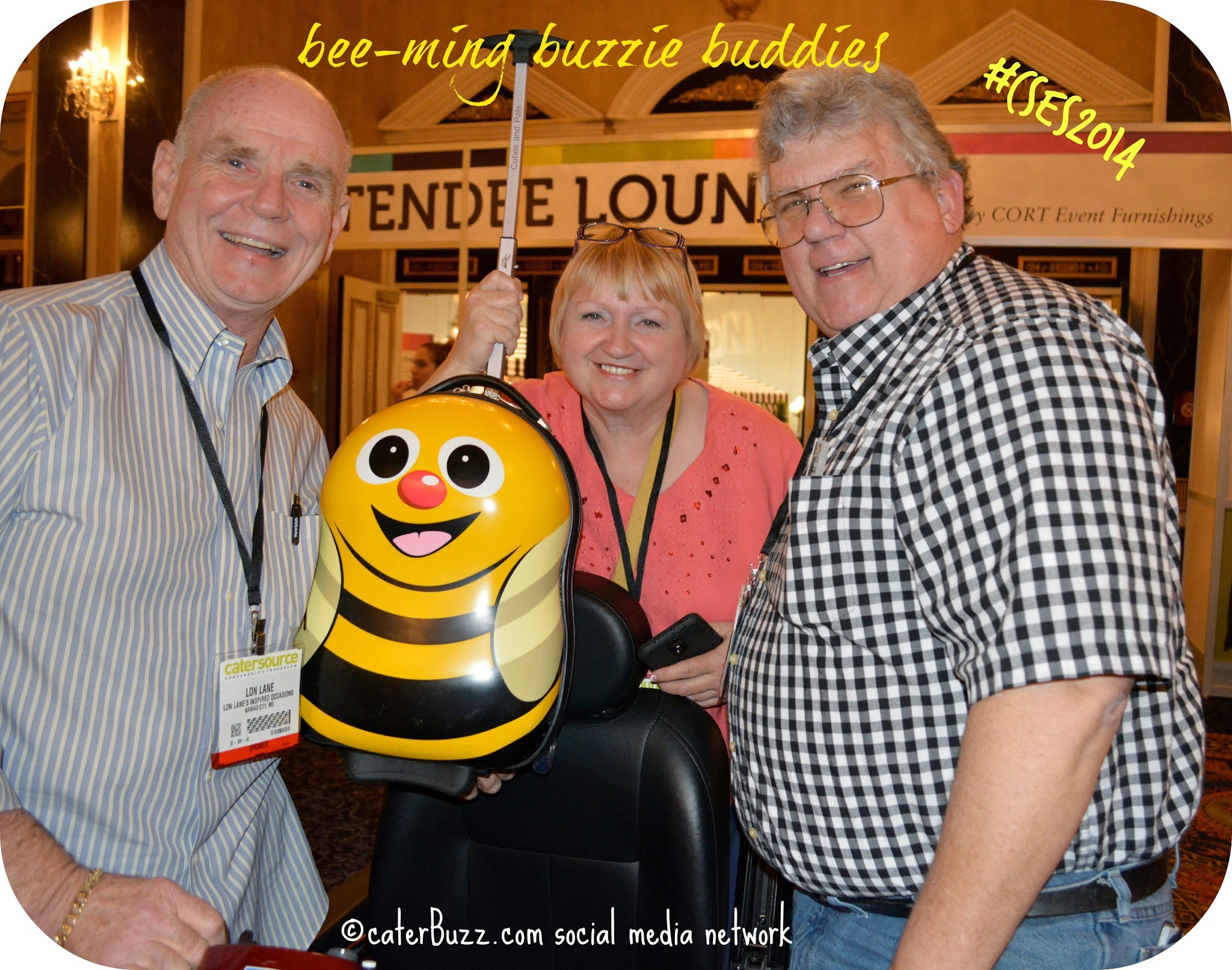 #caterbuzz buzzie meetup in the hallways at #cses2014; photo © caterBuzz.com social media network -