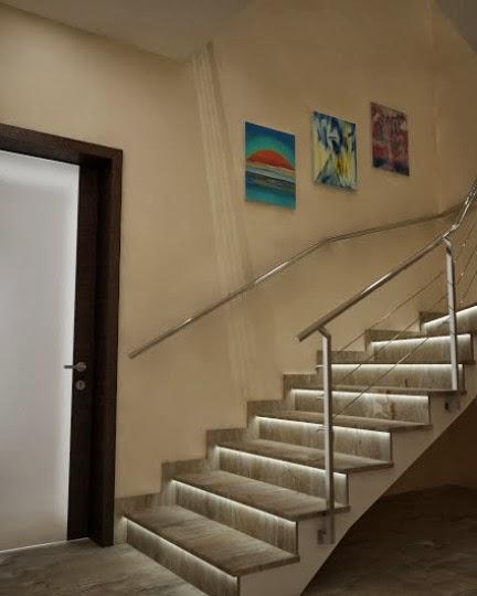 Осветени стълби с диод 1