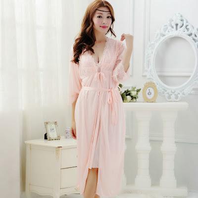 Desain Baju Kimono Tidur Berendah Sexy Import