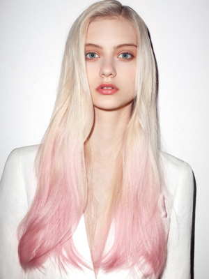 peinados 2014 puntas de colores
