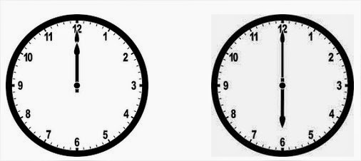how to read clock in english