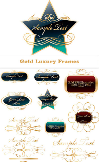 Gold Luxury Text Frames