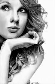 Dibujos a lápiz de mujeres famosas, Taylor Swift
