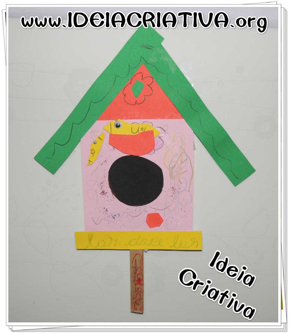 Atividade com Formas Geométricas Educação Infantil Casa de Passarinhos