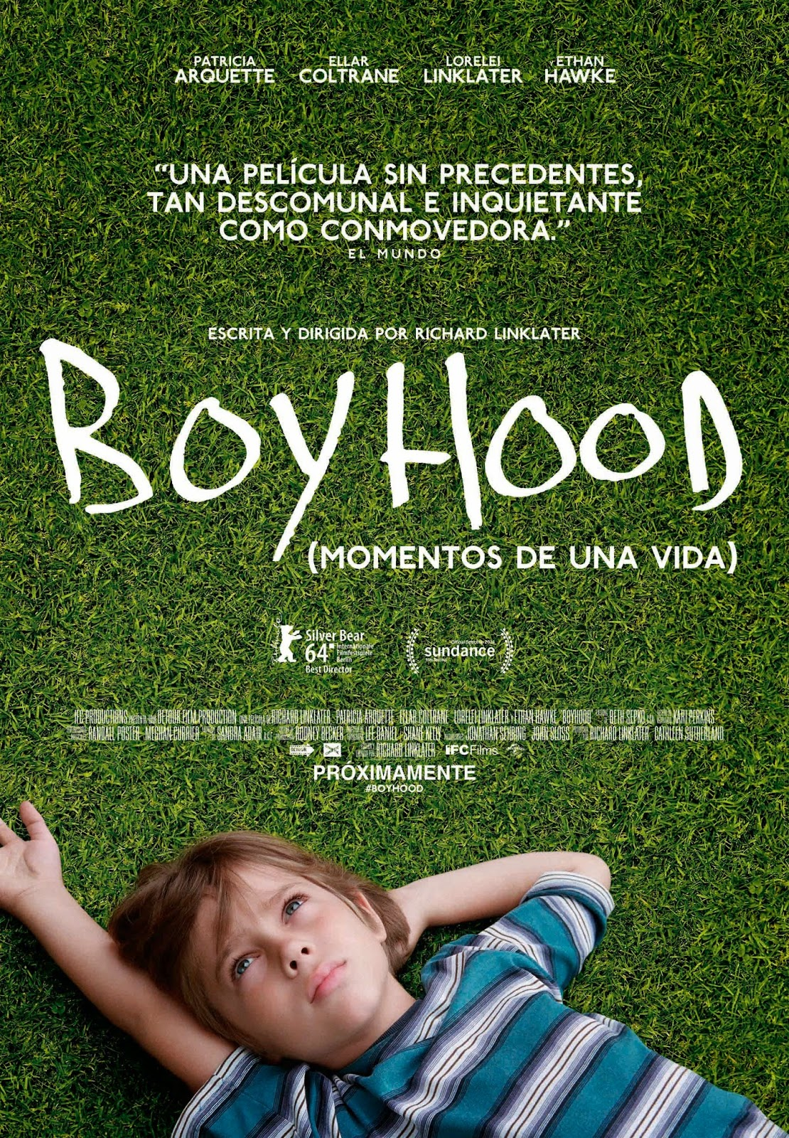 cartel de la peli boyhood