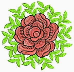 borduurwerk blom appliek