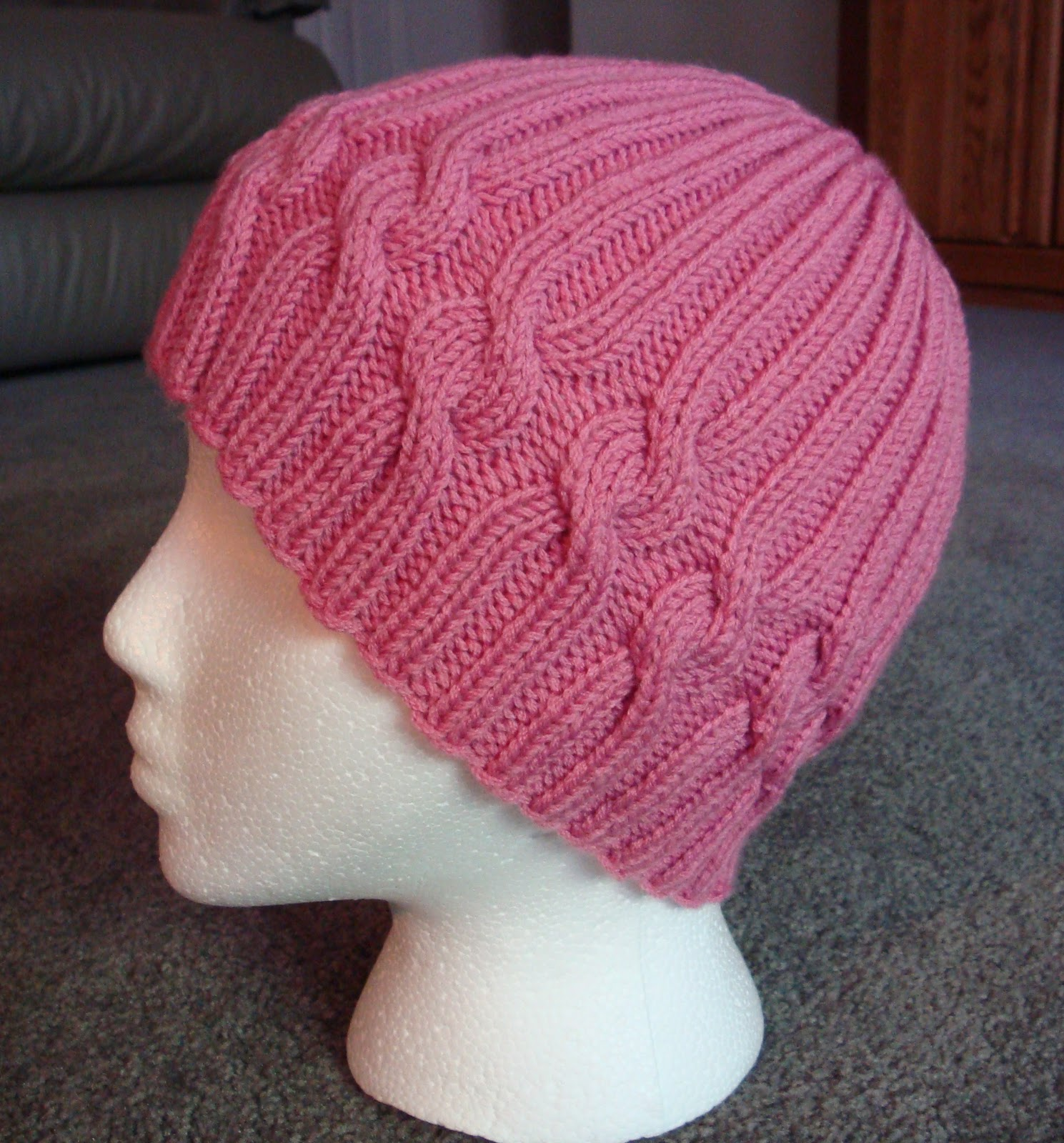 Knitting Patterns Free Download Hats : Kims Knitting Korner: FREE: Ribbons of Hope Hat Pattern