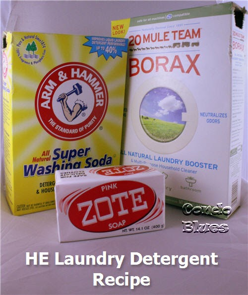 condo blues  how to make powdered high efficiency laundry detergent