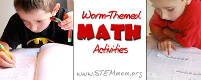 Worm-themed Math Activities from STEMmom.org
