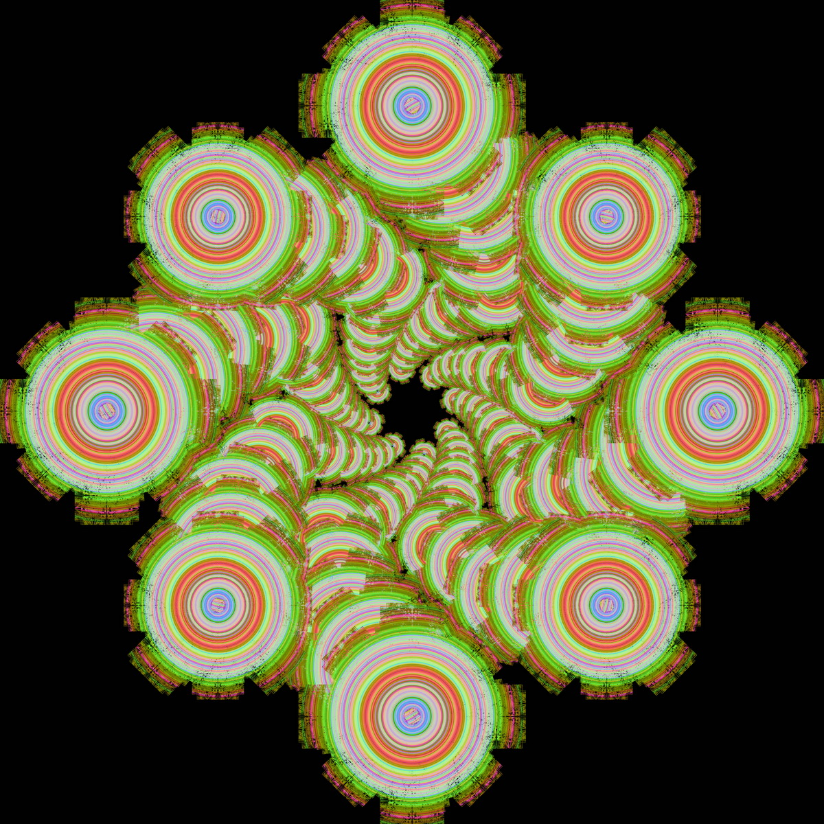 mandalas fractales patterns efectos visuales efectos opticos imagenes efecto visual efecto