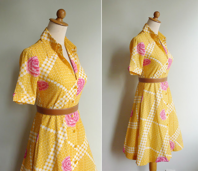 vintage yellow cotton dress