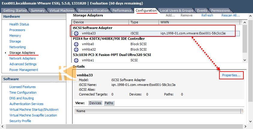 stop hanging iscsi connection