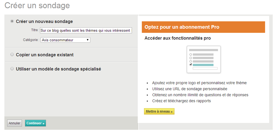 Comment cr er un questionnaire de satisfaction for Creer sa propre entreprise idee