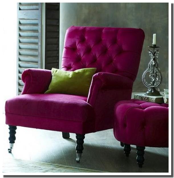 Nassima home fauteuil rose fushia - Fauteuil rose fushia ...