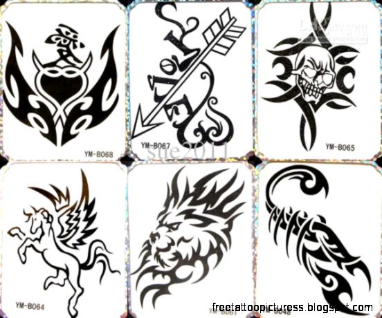 Temporary Tattoo Waterproof Body Tattoo Stickers 12 Mix Designs