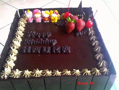 Catatan Tangan Ocha Full Chocolate Cake for Birthday Cake