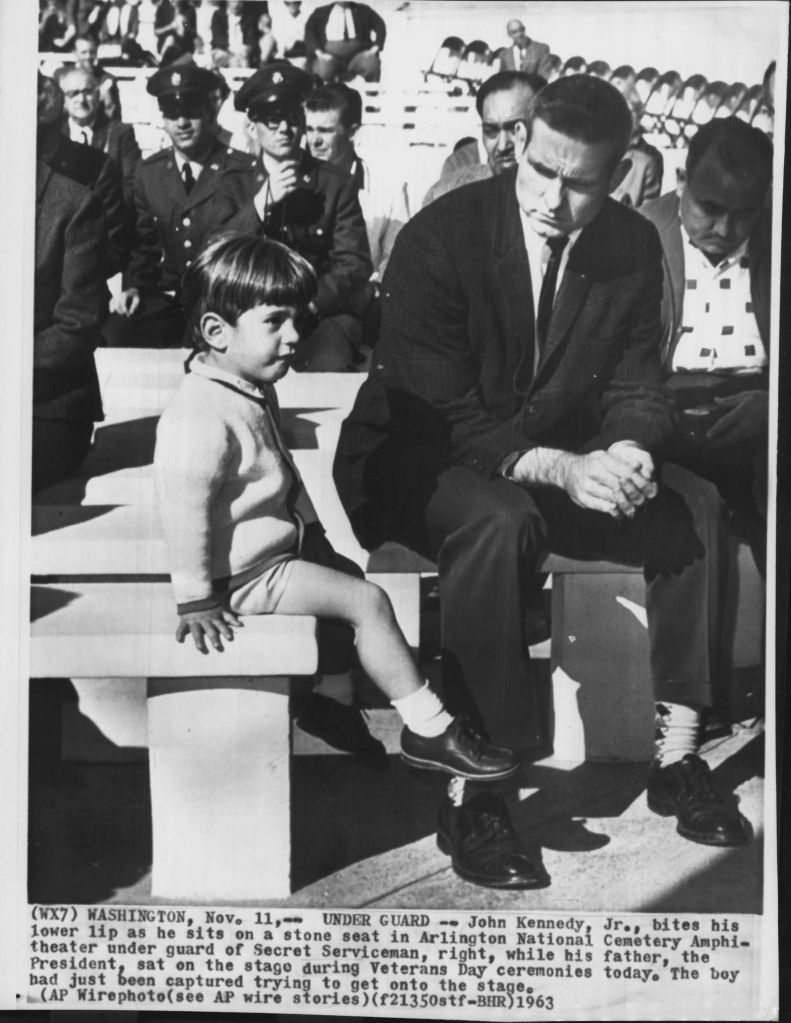 JFK JR AND SA BOB FOSTER 11/11/63