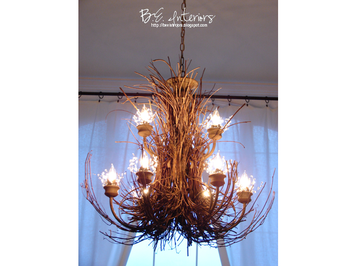 b e interiors twig chandelier tutorial