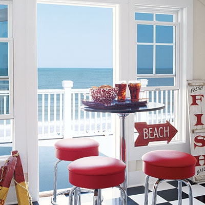 Patriotic decorating ideas in red white and blue for Red white and blue kitchen ideas