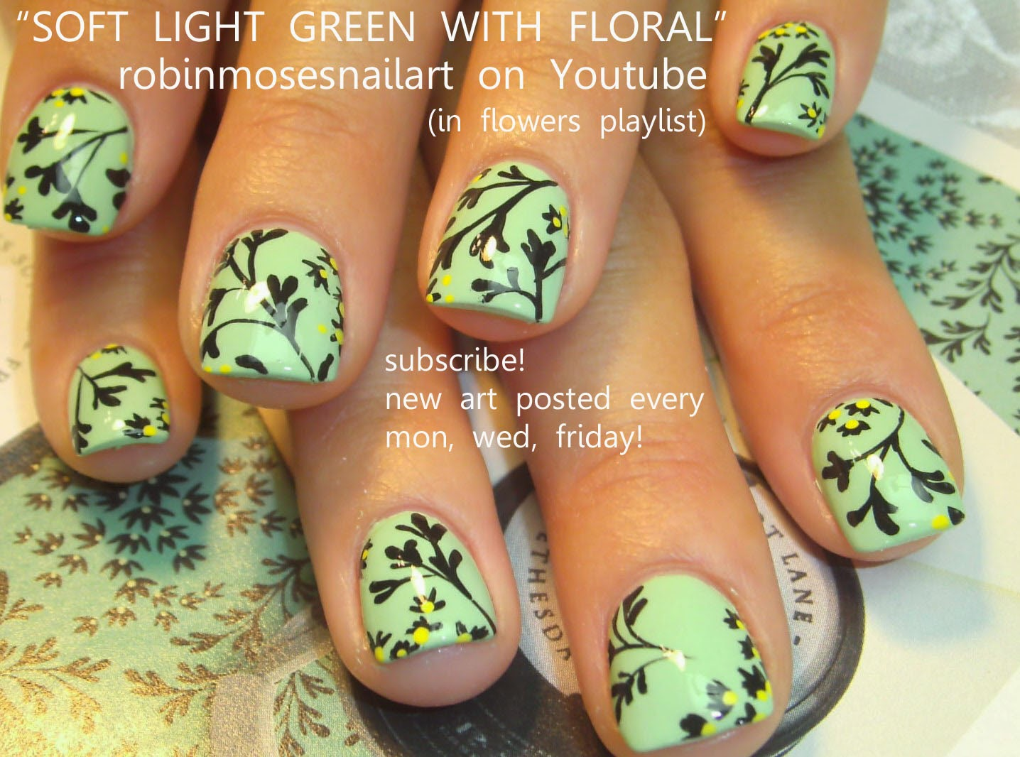 Nail Art Tutorial | DIY | Flower Garden Glitter Nails Design - YouTube