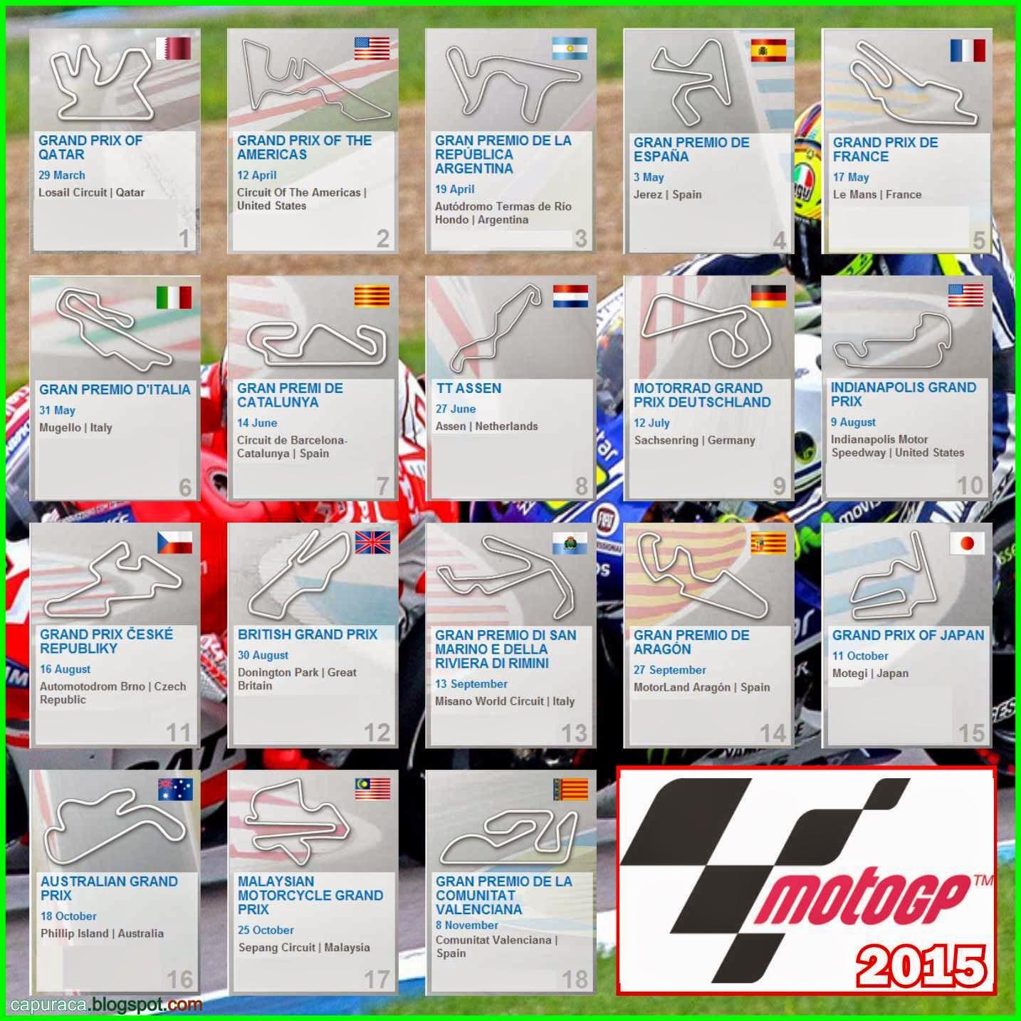 Informasi lengkap jadwal race motogp 2015 Trans7,jadwal balap motogp trans7