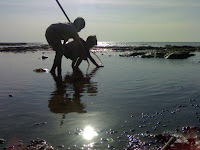 Beach boy in Brondong, Lamongan