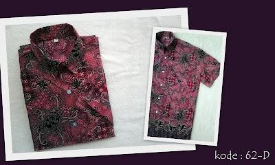 Baju Batik Pria 62D