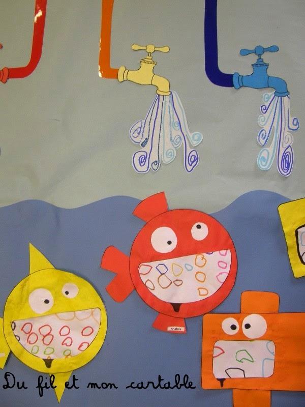 Du fil et mon cartable graphisme ronds poissons et - Poisson en maternelle ...