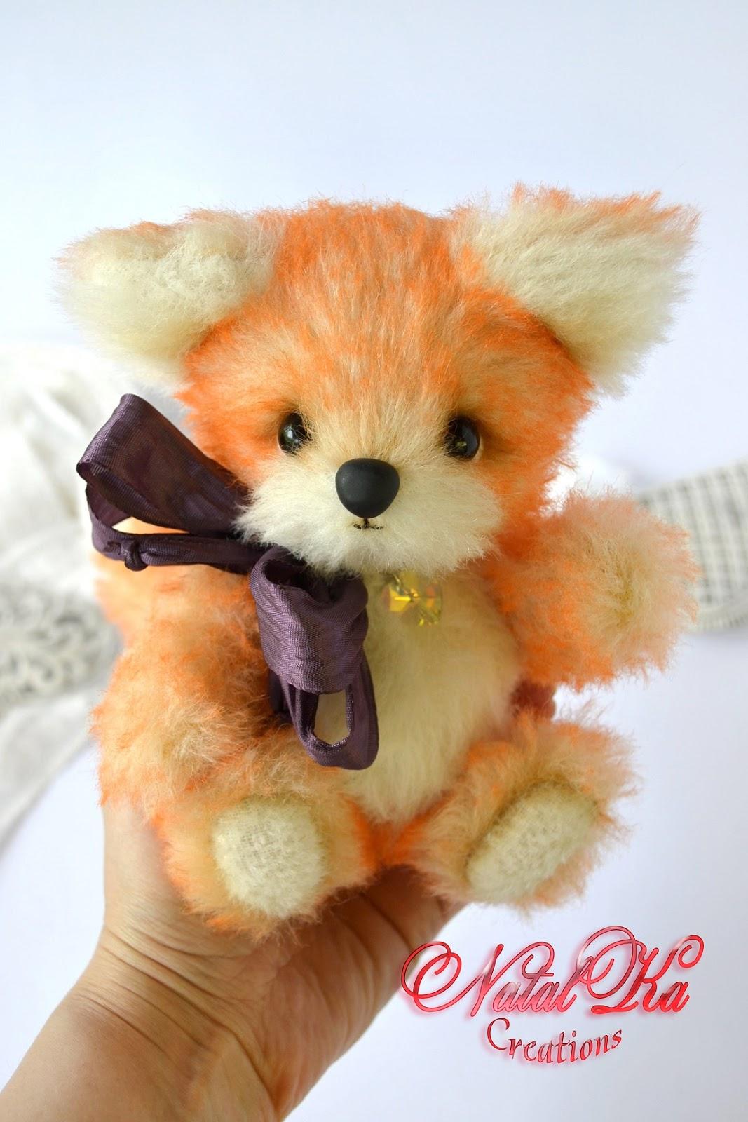 Artist teddy fox handmade by NatalKa Creations. Авторский лисенок тедди ручной работы от NatalKa Creations.