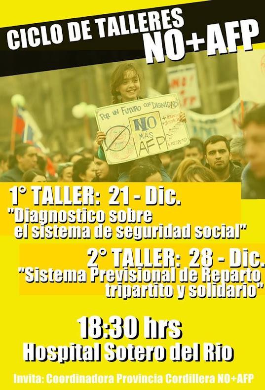 PUENTE ALTO: CICLO DE TALLERES NO+AFP