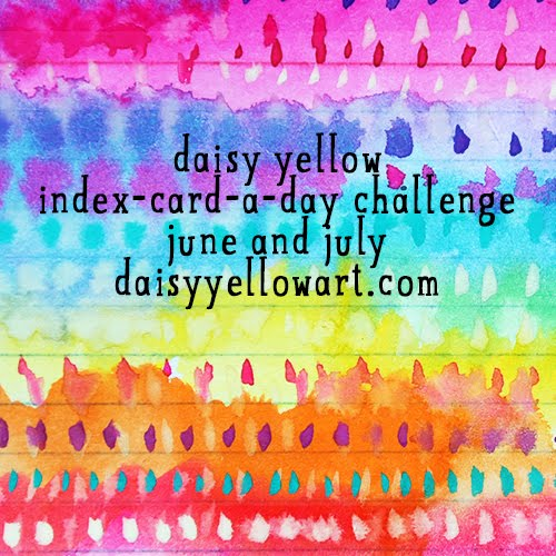 The Daisy Yellow Index Card Challenge 2016