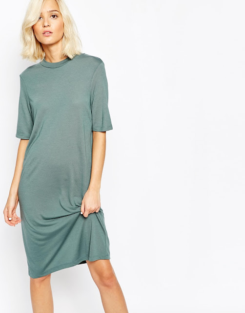 high neck t-shirt dress