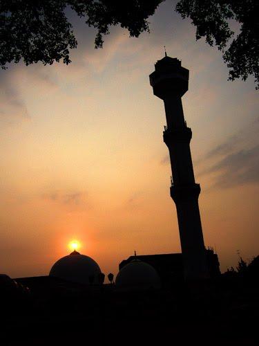 Langit Sore di Masjid Agung Bandung