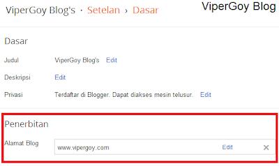 Cara Mengganti Alamat URL Blog Dengan Mudah ViperGoy