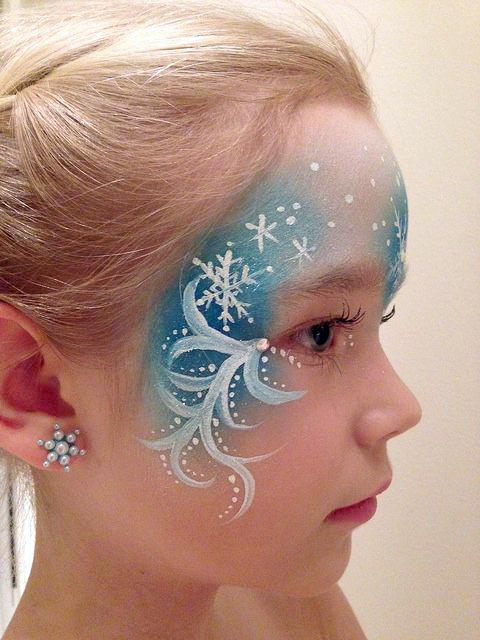 maquillaje disfraz carnaval elsa frozen