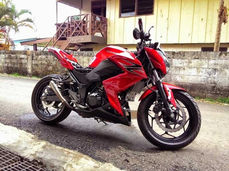 Kawasaki Z250 Merah Modif