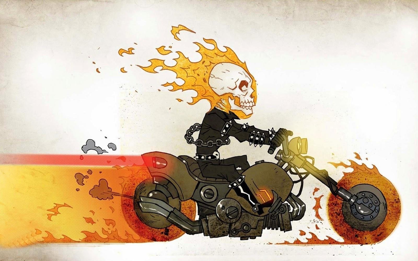 Ghost Rider Animated Cartoon Wallpaper