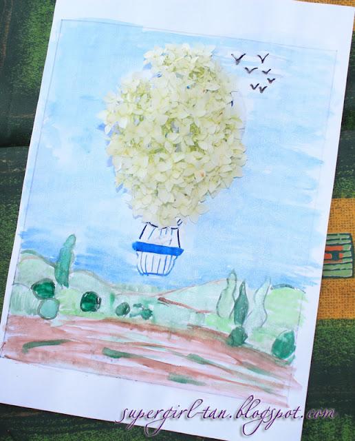 рисуем растениями