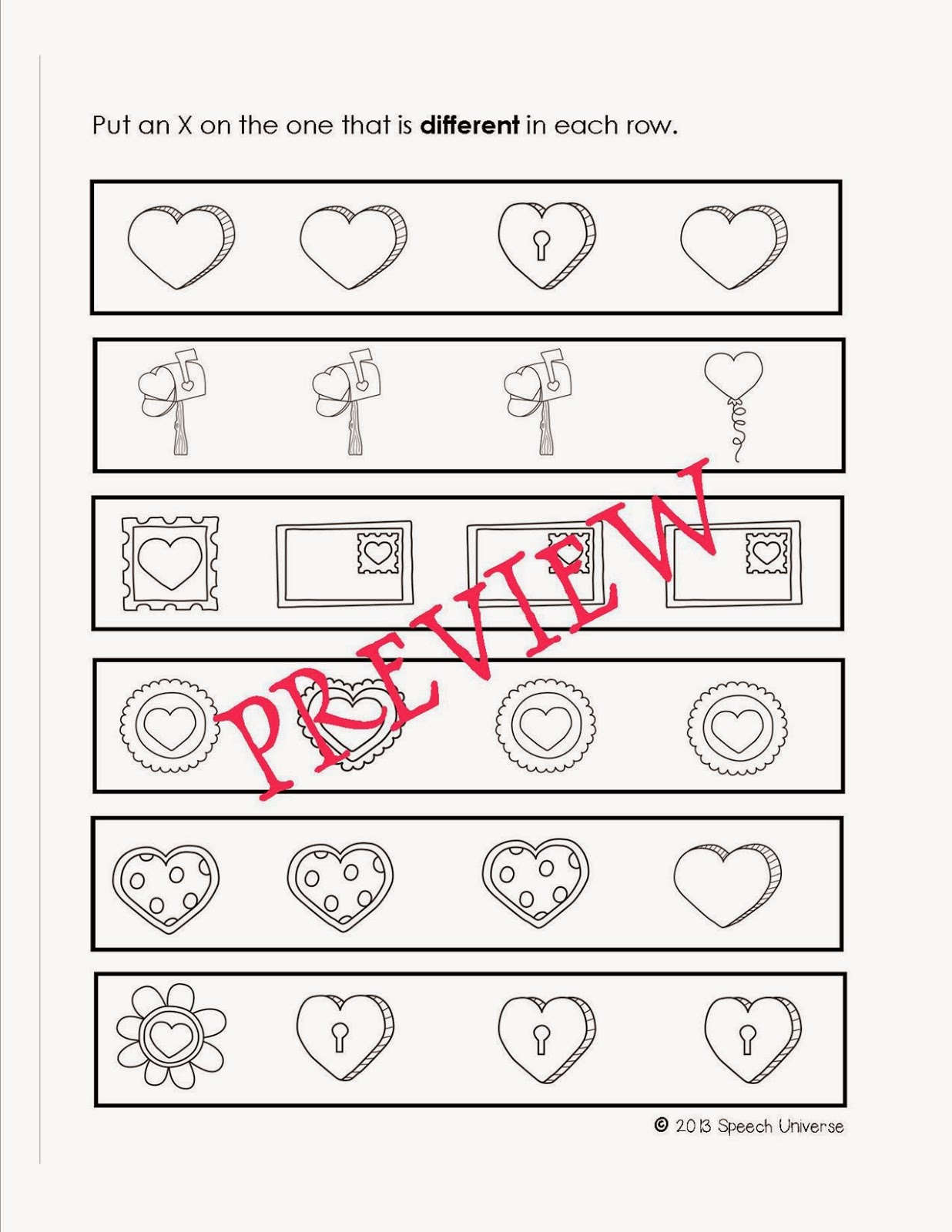 worksheet Same And Different Worksheets valentines day same and different