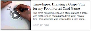 Drawing a Grape Vine - time lapse video