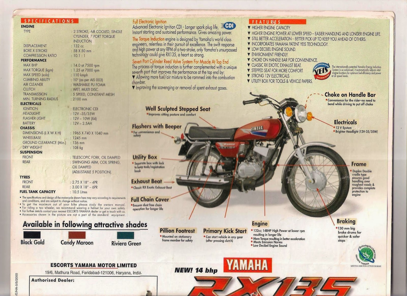 Yamaha rxz manual various owner manual guide manual yamaha rxz 135 free owners manual u2022 rh wordworksbysea com yamaha rx 100 manual yamaha rxz manual asfbconference2016 Image collections