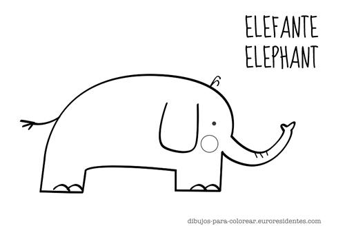 colorear elefante